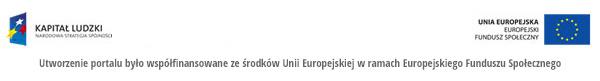 Utworzenie portalu było współfinansowane ze środków Unii Europejskiej w ramach EFS